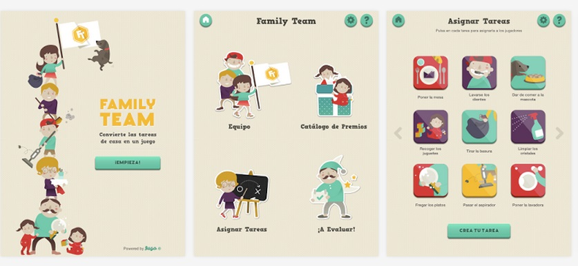 Apps para ninos Family Team