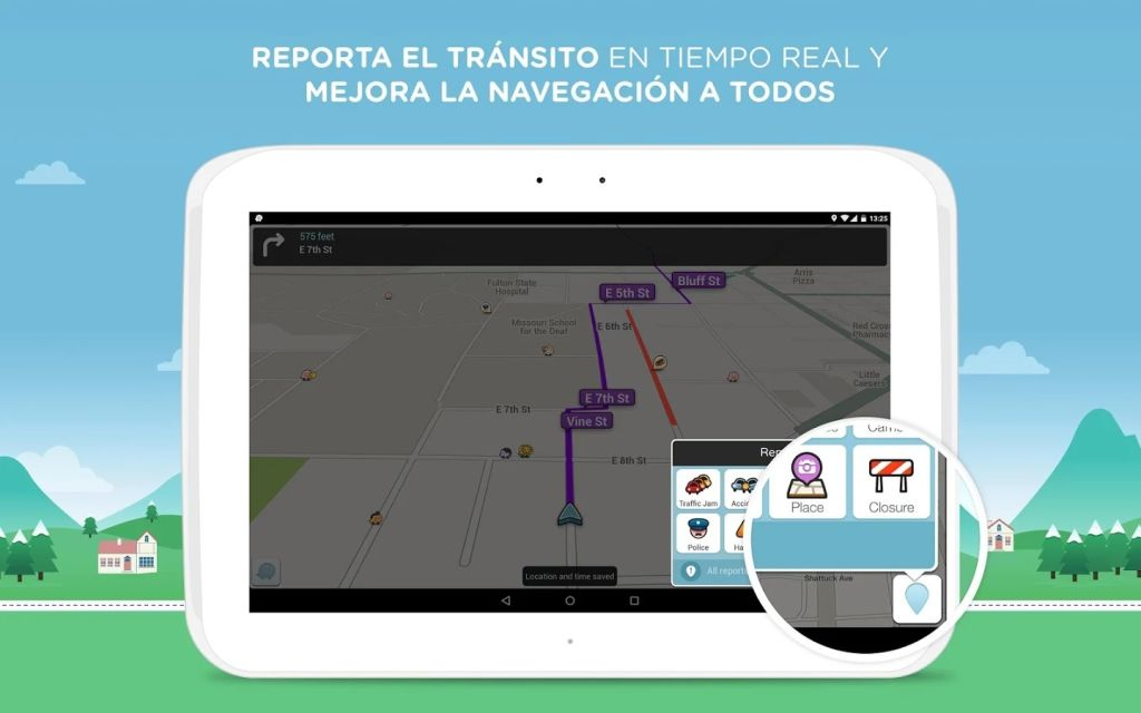 Waze ofrece información del tráfico de parte de sus usuarios.